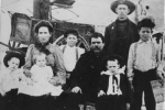 The family of James Calvin and Francis Cron, Circa 1908